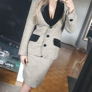 Vintage GIVENCHY Skirt Blazer Suit Set